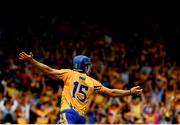 5 August 2018; Shane O'Donnell of Clare celebrates after scoring his side's first goal of the game during the GAA Hurling All-Ireland Senior Championship Semi-Final Replay match between Galway and Clare at Semple Stadium in Thurles, Co Tipperary. Photo by Ramsey Cardy/Sportsfile