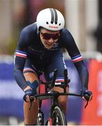 7 August 2018; Juliette Labous of France competing in the Women's Time Trial during day seven of the 2018 European Championships in Glasgow City Centre, Scotland. Photo by David Fitzgerald/Sportsfile