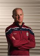 8 August 2018; Galway manager Micheál Donoghue poses for a portrait at the Loughrea Hotel and Spa in Loughrea, Co Galway, during a Galway Hurling Press Conference ahead of the GAA Hurling All-Ireland Senior Championship Final. Photo by Diarmuid Greene/Sportsfile