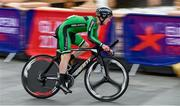 8 August 2018; Edward Dunbar of Ireland competing in the Men's Time Trial during day seven of the 2018 European Championships in Glasgow City Centre, Scotland. Photo by David Fitzgerald/Sportsfile