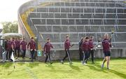 8 August 2018; Galway players arrive prior to the Bord Gais Energy GAA Hurling All-Ireland U21 Championship Semi-Final match between Galway and Tipperary at the Gaelic Grounds in Limerick. Photo by Diarmuid Greene/Sportsfile