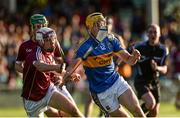 8 August 2018; Mark Kehoe of Tipperary in action against Jack Fitzpatrick of Galway during the Bord Gais Energy GAA Hurling All-Ireland U21 Championship Semi-Final match between Galway and Tipperary at the Gaelic Grounds in Limerick. Photo by Diarmuid Greene/Sportsfile