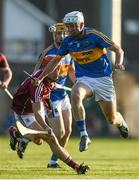8 August 2018; Ger Browne of Tipperary in action against Jack Grealish of Galway during the Bord Gais Energy GAA Hurling All-Ireland U21 Championship Semi-Final match between Galway and Tipperary at the Gaelic Grounds in Limerick. Photo by Diarmuid Greene/Sportsfile