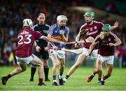 8 August 2018; Killian O'Dwyer of Tipperary in action against Jack Coyne, left, and Evan Niland of Galway during the Bord Gais Energy GAA Hurling All-Ireland U21 Championship Semi-Final match between Galway and Tipperary at the Gaelic Grounds in Limerick. Photo by Diarmuid Greene/Sportsfile