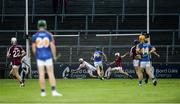 8 August 2018; Darragh Gilligan of Galway concedes Tipperary's third goal from Ger Browne of Tipperary, unseen, during the Bord Gais Energy GAA Hurling All-Ireland U21 Championship Semi-Final match between Galway and Tipperary at the Gaelic Grounds in Limerick. Photo by Diarmuid Greene/Sportsfile