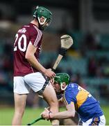 8 August 2018; Brian McGrath of Tipperary reacts after an incident with Cian Salmon of Galway, which saw the Galway player sent off, during the Bord Gais Energy GAA Hurling All-Ireland U21 Championship Semi-Final match between Galway and Tipperary at the Gaelic Grounds in Limerick. Photo by Diarmuid Greene/Sportsfile