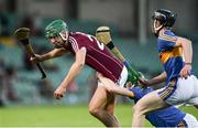 8 August 2018; Cian Salmon of Galway is tackled by Brian McGrath of Tipperary during the Bord Gais Energy GAA Hurling All-Ireland U21 Championship Semi-Final match between Galway and Tipperary at the Gaelic Grounds in Limerick. Photo by Diarmuid Greene/Sportsfile