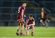 8 August 2018; Jack Grealish, left, with Andrew Greaney of Galway after the Bord Gais Energy GAA Hurling All-Ireland U21 Championship Semi-Final match between Galway and Tipperary at the Gaelic Grounds in Limerick. Photo by Diarmuid Greene/Sportsfile