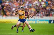 5 August 2018; Tony Kelly of Clare in action against Conor Whelan of Galway during the GAA Hurling All-Ireland Senior Championship semi-final replay match between Galway and Clare at Semple Stadium in Thurles, Co Tipperary. Photo by Diarmuid Greene/Sportsfile