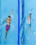 9 August 2018; Christoph Meier of Lichenstein, left, and Semen Makovich of Russia competing in the Men's 400m Individual Meley preliminary heat during day eight of the 2018 European Championships at Tollcross International Swimming Centre in Glasgow, Scotland. Photo by David Fitzgerald/Sportsfile