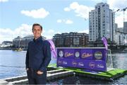 9 August 2018; England and Manchester United football legend Gary Neville touched down in Dublin today to officially launch the second year of Cadbury's partnership with the Premier League, as 'Official Snack Partner'. Accompanied by the Premier League Trophy, Gary paid a visit to Dublin's Grand Canal Square to take part in the Cadbury Premier League Kicking Challenge – a penalty shootout where football fans were given the opportunity to win prizes, including flights and Premier League tickets, by scoring goals on a floating pontoon, in Grand Canal Dock. Photo by Ramsey Cardy/Sportsfile