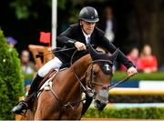 9 August 2018; Shane Breen of Ireland competing on Can Ya Makan on their way to winning the Clayton Hotel Ballsbridge Speed Derby during the StenaLine Dublin Horse Show at the RDS Arena in Dublin. Photo by Matt Browne/Sportsfile