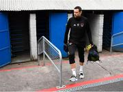 9 August 2018; Damien Delaney of Cork City arrives prior to the UEFA Europa League Third Qualifying Round 1st Leg match between Cork City and Rosenborg at Turners Cross in Cork. Photo by Stephen McCarthy/Sportsfile