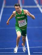 9 August 2018; Thomas Barr of Ireland on his way to winning a bronze medal following the Men's 400m Hurdles Final during Day 3 of the 2018 European Athletics Championships at The Olympic Stadium in Berlin, Germany. Photo by Sam Barnes/Sportsfile