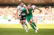 9 August 2018; Karl Sheppard of Cork City in action against Vegar Hedenstad of Rosenborg during the UEFA Europa League Third Qualifying Round 1st Leg match between Cork City and Rosenborg at Turners Cross in Cork. Photo by Stephen McCarthy/Sportsfile