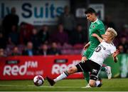 9 August 2018; Birger Meling of Rosenborg in action against Graham Cummins of Cork City during the UEFA Europa League Third Qualifying Round 1st Leg match between Cork City and Rosenborg at Turners Cross in Cork. Photo by Stephen McCarthy/Sportsfile