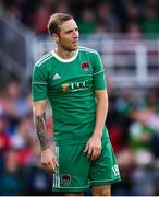 9 August 2018; Karl Sheppard of Cork City reacts to a missed opportunity during the UEFA Europa League Third Qualifying Round 1st Leg match between Cork City and Rosenborg at Turners Cross in Cork. Photo by Stephen McCarthy/Sportsfile