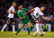 9 August 2018; Mike Jensen of Rosenborg in action against Jimmy Keohane of Cork City during the UEFA Europa League Third Qualifying Round 1st Leg match between Cork City and Rosenborg at Turners Cross in Cork. Photo by Stephen McCarthy/Sportsfile