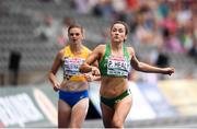 10 August 2018; Phil Healy of Ireland competing in the Women's 200m event heats during Day 4 of the 2018 European Athletics Championships at The Olympic Stadium in Berlin, Germany. Photo by Sam Barnes/Sportsfile