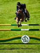 10 August 2018; Jack Ryan of Ireland competing on Essenar High Hopes during the International 7 and 8 Year Old during the StenaLine Dublin Horse Show at the RDS Arena in Dublin. Photo by Harry Murphy/Sportsfile