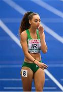 10 August 2018; Davicia Patterson of Ireland after competing in the Women's 4x400m relay event during Day 4 of the 2018 European Athletics Championships at The Olympic Stadium in Berlin, Germany. Photo by Sam Barnes/Sportsfile