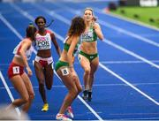10 August 2018; Sophie Becker of Ireland, right passes the baton to Davicia Patterson competing in the Women's 4x400m relay event during Day 4 of the 2018 European Athletics Championships at The Olympic Stadium in Berlin, Germany. Photo by Sam Barnes/Sportsfile
