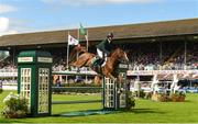 10 August 2018; Shane Sweetnam from Ireland competing on Main Road jumps clear in the first round during the Longines FEI Jumping Nations Cup of Ireland during the StenaLine Dublin Horse Show at the RDS Arena in Dublin. Photo by Matt Browne/Sportsfile