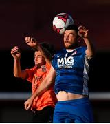 10 August 2018; Ryan Brennan of St Patrick's Athletic in action against Darren Howe of Inchicore Athletic during the Irish Daily Mail FAI Cup First Round match between Inchicore Athletic and St Patrick's Athletic at Richmond Park in Inchicore, Dublin. Photo by Stephen McCarthy/Sportsfile