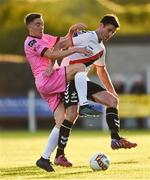 10 August 2018; Dinny Corcoran of Bohemians in action against Conor Sutton of Wexford during the Irish Daily Mail FAI Cup First Round match between Wexford and Bohemians at Ferrycarrig Park, in Wexford. Photo by Tom Beary/Sportsfile