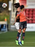 10 August 2018; Kylie Murphy of Wexford Youths in action against Bianca Sierra  of Thór/KA during the UEFA Women's Champions League Qualifier match between Wexford Youths and Thór/KA at Seaview in Belfast. Photo by Oliver McVeigh/Sportsfile