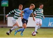 10 August 2018; Greg Sloggett of UCD in action against Darragh Rainsford of Pike Rovers during the Irish Daily Mail FAI Cup First Round match between UCD and Pike Rovers at The UCD Bowl, in Dublin. Photo by Eoin Smith/Sportsfile