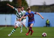 10 August 2018; Aaron Greene of Shamrock Rovers in action against Conor Kane of Drogheda United during the Irish Daily Mail FAI Cup First Round match between Drogheda United v Shamrock Rovers at United Park, in Drogheda. Photo by Seb Daly/Sportsfile