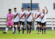 10 August 2018; Keith Ward right, celebrates with Bohemians team-mates after scoring his side's fourth goal during the Irish Daily Mail FAI Cup First Round match between Wexford and Bohemians at Ferrycarrig Park, in Wexford. Photo by Tom Beary/Sportsfile
