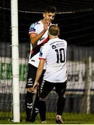 10 August 2018; Cristian Magerusan of Bohemians celebrates after scoring his side's seventh goal with teammate Keith Ward during the Irish Daily Mail FAI Cup First Round match between Wexford and Bohemians at Ferrycarrig Park, in Wexford. Photo by Tom Beary/Sportsfile