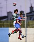 10 August 2018; Sam Bone of Shamrock Rovers in action against Conor Kane of Drogheda United during the Irish Daily Mail FAI Cup First Round match between Drogheda United v Shamrock Rovers at United Park, in Drogheda. Photo by Seb Daly/Sportsfile