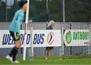 10 August 2018; Mick Wallace T.D. watches on during the Irish Daily Mail FAI Cup First Round match between Wexford and Bohemians at Ferrycarrig Park, in Wexford. Photo by Tom Beary/Sportsfile