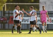 10 August 2018; Jonathan Lunney, right, of Bohemians celebrates with team-mate Kevin Devaney after scoring his side's first goal during the Irish Daily Mail FAI Cup First Round match between Wexford and Bohemians at Ferrycarrig Park, in Wexford. Photo by Tom Beary/Sportsfile