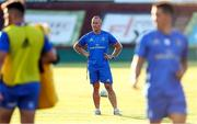 10 August 2018; Leinster senior coach Stuart Lancaster during warm-ups prior to the Pre-Season Friendly match between Montauban and Leinster at Stade Sapiac, in Montauban, France. Photo by Manuel Blondeau/Sportsfile