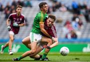 11 August 2018; Liam Judge of Galway in action against Harry O'Higgins of Meath during the Electric Ireland GAA Football All-Ireland Minor Championship semi-final match between Galway and Meath at Croke Park in Dublin. Photo by Piaras Ó Mídheach/Sportsfile