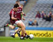11 August 2018; Eoghan Tinney of Galway shoots to score his side's first goal in the 39th minute during the Electric Ireland GAA Football All-Ireland Minor Championship semi-final match between Galway and Meath at Croke Park in Dublin. Photo by Ray McManus/Sportsfile