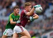 11 August 2018; Oisín McCormack of Galway is tackled by Seán Coffey of Meath during the Electric Ireland GAA Football All-Ireland Minor Championship semi-final match between Galway and Meath at Croke Park in Dublin. Photo by Ray McManus/Sportsfile