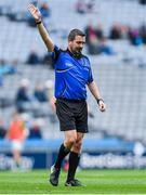 11 August 2018; Referee Noel Mooney during the Electric Ireland GAA Football All-Ireland Minor Championship semi-final match between Galway and Meath at Croke Park in Dublin. Photo by Piaras Ó Mídheach/Sportsfile