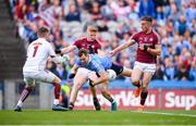11 August 2018; Dean Rock of Dublin in action against Galway players, from left, goalkeeper Ruairí Lavelle, Seán Andy Ó Ceallaigh, and Eamonn Brannigan during the GAA Football All-Ireland Senior Championship semi-final match between Dublin and Galway at Croke Park in Dublin. Photo by Stephen McCarthy/Sportsfile