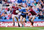 11 August 2018; Dean Rock of Dublin in action against Seán Andy Ó Ceallaigh, left, and Eamonn Brannigan of Galway during the GAA Football All-Ireland Senior Championship semi-final match between Dublin and Galway at Croke Park in Dublin. Photo by Stephen McCarthy/Sportsfile