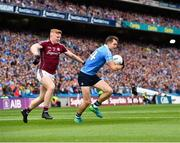 11 August 2018; Dean Rock of Dublin in action against Seán Andy Ó Ceallaigh of Galway during the GAA Football All-Ireland Senior Championship semi-final match between Dublin and Galway at Croke Park in Dublin. Photo by Seb Daly/Sportsfile