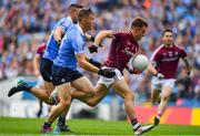 11 August 2018; Eoghan Kerin of Galway in action against Con O'Callaghan and James McCarthy of Dublin during the GAA Football All-Ireland Senior Championship semi-final match between Dublin and Galway at Croke Park in Dublin. Photo by Brendan Moran/Sportsfile