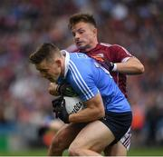 11 August 2018; Con O'Callaghan of Dublin is tackled by Eoghan Kerin of Galway during the GAA Football All-Ireland Senior Championship semi-final match between Dublin and Galway at Croke Park in Dublin. Photo by Ray McManus/Sportsfile