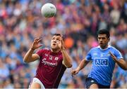 11 August 2018; Damien Comer of Galway in action against Cian O'Sullivan of Dublin during the GAA Football All-Ireland Senior Championship semi-final match between Dublin and Galway at Croke Park in Dublin. Photo by Brendan Moran/Sportsfile