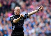 11 August 2018; Referee Barry Cassidy during the GAA Football All-Ireland Senior Championship semi-final match between Dublin and Galway at Croke Park in Dublin. Photo by Brendan Moran/Sportsfile
