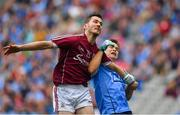 11 August 2018; Ian Burke of Galway is tackled by Eoin Murchan of Dublin during the GAA Football All-Ireland Senior Championship semi-final match between Dublin and Galway at Croke Park in Dublin. Photo by Brendan Moran/Sportsfile